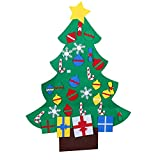 Felt Christmas Tree Craft Kit, 3.9ft, 26 Ornaments, Door Wall Hanging Decorations Kids DIY Educational Gift