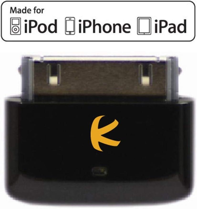 KOKKIA i10s black (Negro Lujoso) Pequeño transmisor Bluetooth para iPod/iPhone/iPad con autentificación real Apple. Control remoto y control de volumen local para iPod/iPhone/iPad. Instalación automát