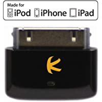 KOKKIA i10s (Black): Tiny Bluetooth iPod Transmitter for iPod/iPhone/iPad with Apple Authentication. Works Well with Apple AirPods. Remote Controls, Local Volume Control Capabilities. Plug and Play.