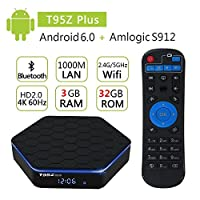 EVANPO T95Z plus TV Box Amlogic S912 Octa-core 3G DDR3 RAM 32G eMMC ROM Android 6.0 Support 1080P 4K Resolution Smart TV Box Media Player by EVANPO