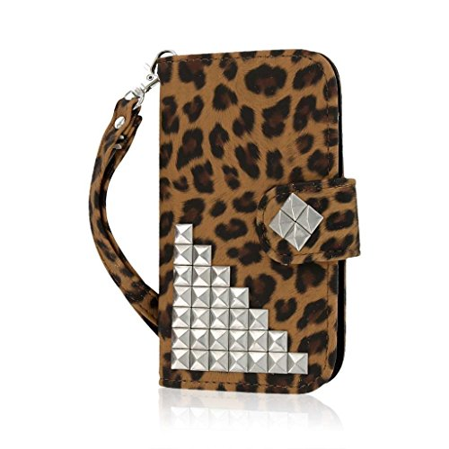 Empire Mpero Flex Flip Wallet Case for HTC One SV - Retail Packaging - Studded Leopard (Wallet Phone Cases For Htc One Sv)