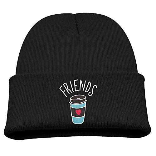 Children Mould Cuff FRIENDS Coffee Retro Warm Winter Knit Cap Unisex