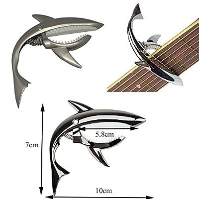 Pakala66 Shark Capo Guitar Capo Shark Zinc Alloy Spring Capo for Acoustic and Electric Guitar by Pakala66
