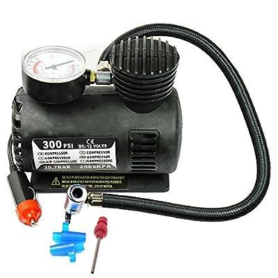 Portable Mini Air Compressor Electric Tire Inflating Pump 300PSI DC 12V