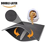 """Pieviev Cat Litter Mat Litter Trapper of Large Size 30"""" X 24"""", Honeycomb Double-Layer Design With Waterproof/Urine Proof Material, Easy Clean and Floor/Carpet Protection (Mat 1)"""