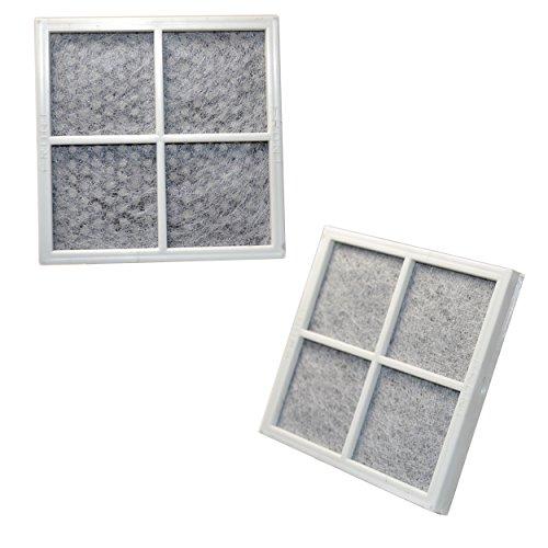 HQRP 2-pack Fresh Air Filter for LG LFX31935ST, LFX31945ST, LFX31995ST, LFX329345ST, LFX33975ST, LFXS30766S, LMX30995ST, LMX31985ST, LSC22991ST, LSFD2591ST Refrigerators + HQRP Coaster