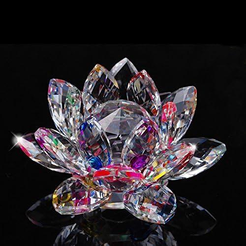 Bianco TYGJB Cristallo di Quarzo fine Fiore di Loto Pietre Naturali e minerali Feng Shui Sfera Cristalli Fiori per Souvenir di Nozze