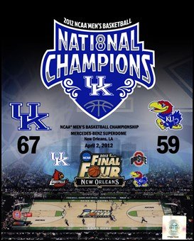 University of Kentucky 2012 NCAA Men's Basketball National Champions Composite Art Poster PRINT Unknown 8x10