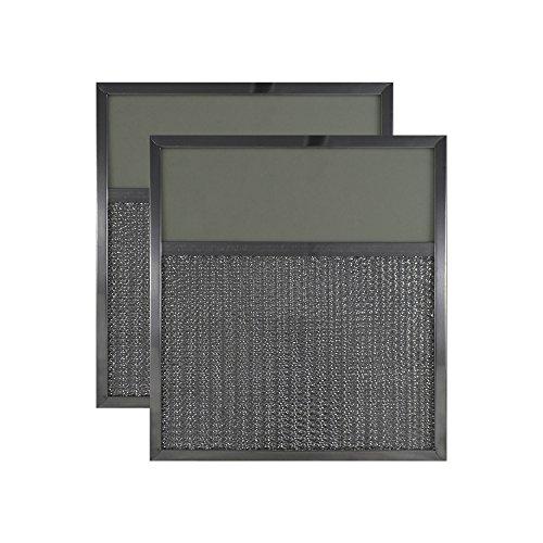 2-PACK Air Filter Factory 11 x 12 x 3/8 Range Hood Aluminum Lens Grease Filters ()