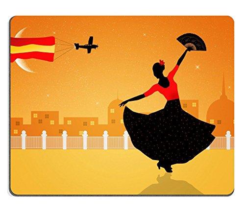 [Liili Mouse Pad Natural Rubber Mousepad Illustration of flamenco dancer Image ID 21730597] (Female Flamenco Dancer Costumes)