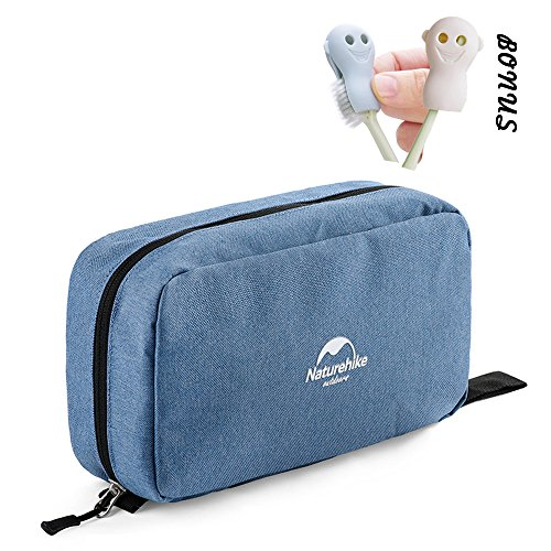 Toiletry Bag, Compact Toiletry Bag Large Storage Capacity with Hanging Hook, Waterproof Travel Organizer and Storage as Bathroom Accessories For Men & Women (Light Blue) by Smith's Gift