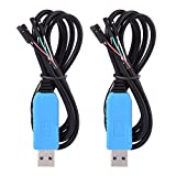 2 Pack Debug Cable for Raspberry Pi USB Programming USB to TTL Serial Cable, Windows XP/ VISTA/ 7/ 8/ 8.1 Supported