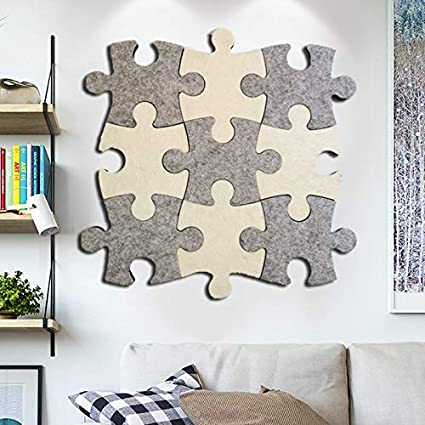 Set of Wall Bulletin Board Puzzle Shape Pin Board w//Self Adhesive to Keep Memories Photos Memos Display Board Pads Pictures Drawing Goals Notes Colorful Foam Wall Decorative Felt Cork Board Tiles