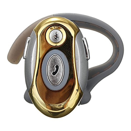 SODIAL(R) Business Handsfree Mono Earphone Wireless Bluetooth Headset For Motorola HTC, Gold