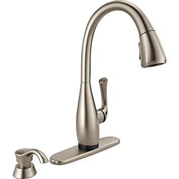 Dominic Single Handle Pull Down Sprayer Kitchen Faucet With Touch2o