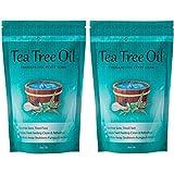 Tea Tree Oil Foot Soak With Epsom Salt, Helps Soak Toenail Fungus, Athletes Foot & Stubborn Foot Odor - Softens Calluses & Soothes Sore Tired Feet -16oz (Pack of 2)