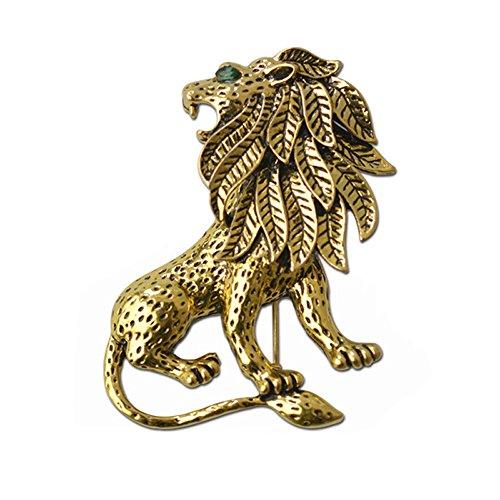 Teniu Animal Lion Brooch Pins Women Mens Brooch Vintage Brooch for Men Or Women