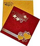 Red Coloured Beautiful Wedding Invitation Card Ethnic Wedding Card Design Vivah Patrika Best Choice for Wedding Beautiful & Unique Creation By Yash Cards - Pack of 100