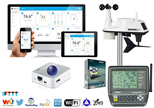 Ambient Weather 6250-WEATHERBRIDGE Davis Instruments Wi-Fi Vantage Vue Wireless Weather Station, Compatible with Alexa