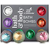 ArtNaturals Bath Bombs Gift Set – (12 x 4 Oz / 113g) – Natural Handmade Essential Oil Spa Bubble Bomb Fizzies – For Relaxation, Moisturizing and Fun for Kids, Women and Men