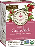 Traditional Medicinals Organic Cran Aid Herbal Tea, 16-Count Wrapped Tea Bags (Pack of 6)