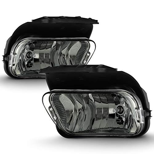 (ACANII - For 2003-2006 Chevy Silverado Pickup Avalanche Smoked Lens Bumper Fog Lights Driving Lamps Assembly Left+Right)
