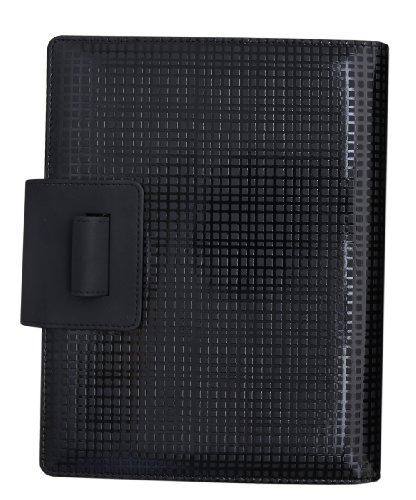 Grandluxe Global Geometric Cameleon Executive PU Leather Organiser Black, 8.3 x 5.8-Inches (Grande Executive Leather)