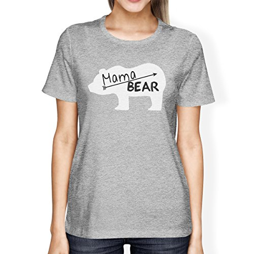 Unique Gray shirt Printing T Taille Mama Manches Femme Bear 365 Courtes 0gnOn