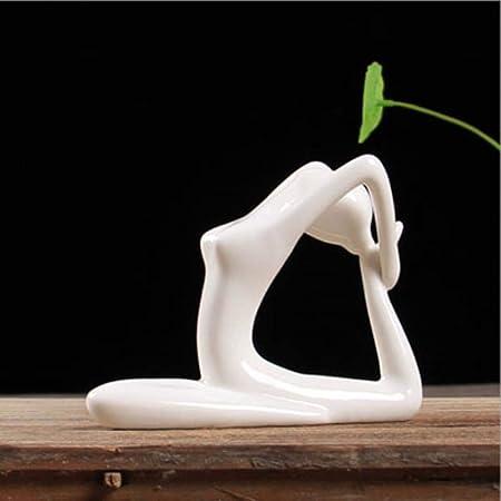 LASISZ Arte Abstracto de cerámica Yoga Poses Estatuilla ...