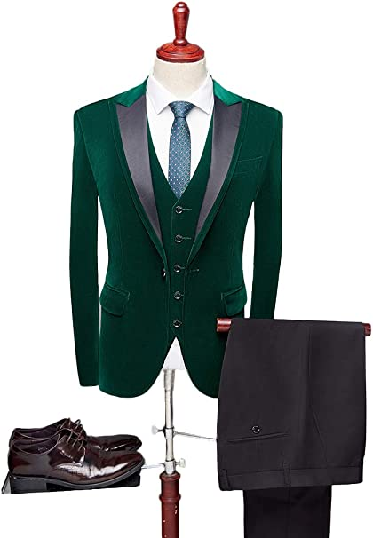 Amazon.com: LIBODU 3 piezas (chaqueta + pantalones + chaleco ...