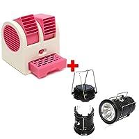 AK Group Mini Fan Usb And Battery Powered Mini Portable Dual Blower Desk Table Air Cooler Fan Portable Dual Bladeless