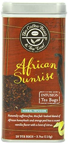 The Coffee Bean & Tea Leaf African Sunrise Honeybush Naturally Caffeine-Free, 20 Count Filter Bag - Caffeine Free Coffee