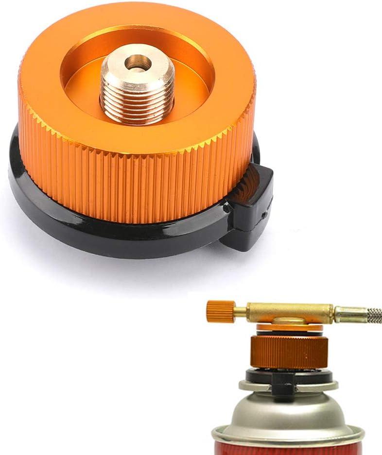 Newin Star Adaptador Cabeza Durable del Adaptador de conversión de Gas de Camping Gas butano Prueba de Errores o Frasco de Tornillo Cartucho de Gas