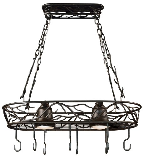 Kenroy Home 90308BRZ  Twigs 2-Light Pot Rack, Blackened Bronze Finish