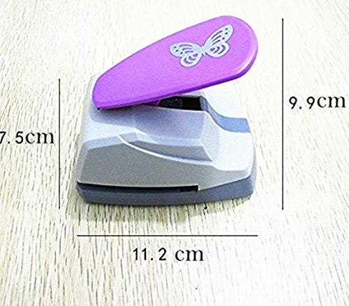 TECH-P Creative Life Crafts Engraving Hole Punch 2-Inch -DIY Paper Punch for Card Scrapbooking Craft Punch Embossing Border School Supplies. (Butterfly-2) Photo #4