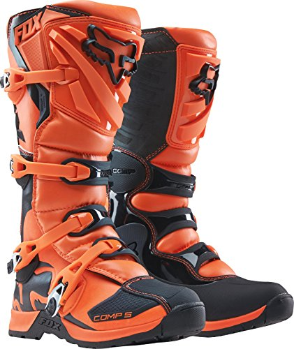 2018 Fox Racing Youth Comp 5 Boots-Orange-Y3 by Fox Racing