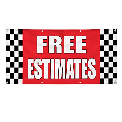 Free Car Repair Estimates >> Amazon Com Vinyl Banner Sign Free Estimates Auto Body Shop