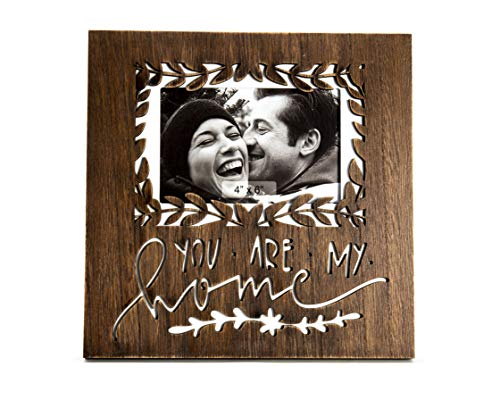 ReLive Decorative Expressions Laser Cut Wood Picture Frames (You are My Home, 4x6) (Sentimental Gift For Boyfriend One Year Anniversary)