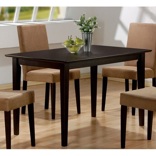 Amazon.com - Coaster Hyde Rectangular Casual Dining Leg Table in ...