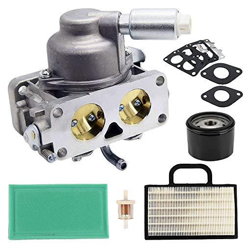 LIYYOO 791230 Carburetor Kit Replacement for Briggs & Stratton 796227 499809 699709 699804 V-Twin 4 Cycle 20HP 21HP 23HP 24HP 25HP Engine John Deere LA120 LA130 LA135 LA140 LA145 LA150