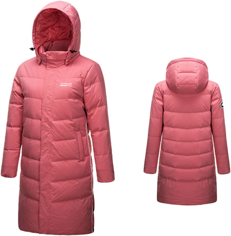 emansmoer Femme Winter Hooded Warm Puffer Thick Long Doudounes Parka Coat Lady Outdoor Fashion Overcoat Pink