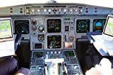 LAMINATED 36x24 Poster: Aircraft Cockpit Aviation Machine Measuring Instruments Show Flight Deck Workplace Operating Elements Control Elements Navigation Elements Kommunikationselemete