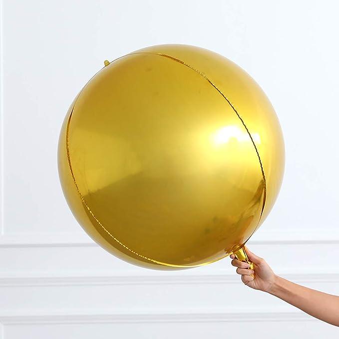 19inch 4D Round Shaped Aluminum Foil Balloon Wedding Birthday Party Decor HGUK