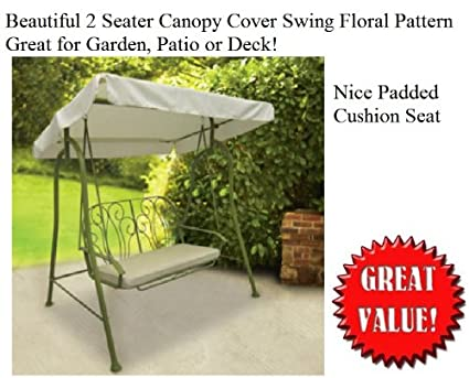 Amazon Com New Outdoor 2 Person Seater Swing Glider Canopy Patio