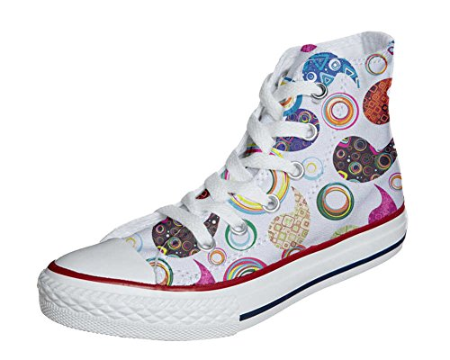 Converse All Star zapatos personalizados Unisex (Producto Artesano) Happy Paisley