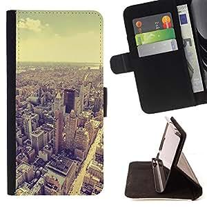- Queen Pattern FOR Samsung Galaxy S4 Mini i9190 /La identificaci????n del cr????dito ranuras para tarjetas tir????n de la caja Cartera de cuero cubie - skyline vignette sepia arc