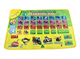 Durable and Foldable Piano Mat,26 English Alphabet Keys and 5 Kinds of Transportation Sounds and Pronunciation, Play and Record, For Kids 3+, Dance and Learn