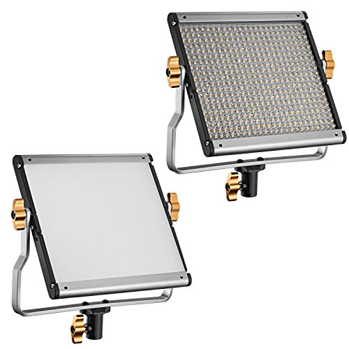 Neewer-Dimmable-Bi-color-LED-with-U-Bracket-Professional-Video-Light-for-Studio-YouTube-Outdoor-Video-Photography-Lighting-Kit-Durable-Metal-Frame-480-LED-Beads-3200-5600K-CRI-96