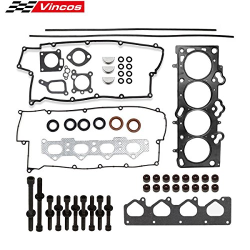 (Cylinder Head Gasket Set with Head Bolts Replacement For Kia Spectra Sportage Replacement Hyundai 2.0 16V 02-09)