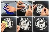 DXYMOO Car Stickers Reflective Motorcycle Helmet